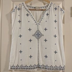 Boho Lucky Brand embroidered blouse